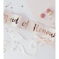 Ginger Ray Rose Gold Maid Of Honour Sash New Look