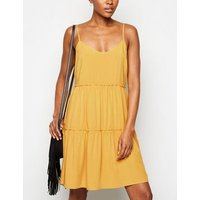 Yellow Strappy Tie Back Sundress New Look