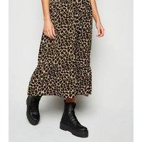 Urban Bliss Black Giraffe Print Midi Smock Dress New Look