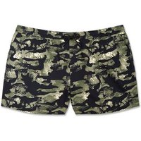 Plus Size Black Camo Leaf Shorts New Look