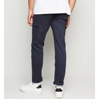 Bellfield Navy Cotton Cargo Trousers New Look