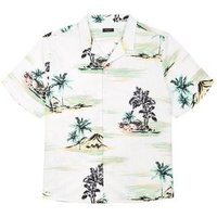 Plus Size White Tropical Short Sleeve Shirt New Look