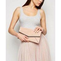 Pale Pink Suedette Clutch Bag New Look Vegan