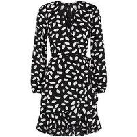 AX Paris Black Spot Long Sleeve Dress New Look