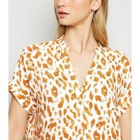 White Leopard Print Short Sleeve Shirt New Look