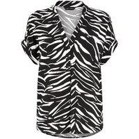 Black Zebra Print Short Sleeve Shirt New Look