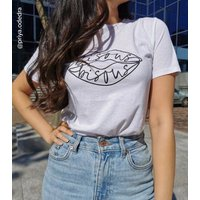 White Bisous Lips Slogan T-Shirt New Look