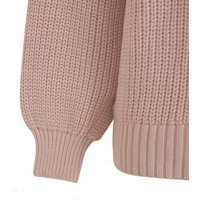 Pale Pink Puff Sleeve Long Knit Cardigan New Look