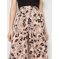 Pink Leopard Print Wide Leg Trousers New Look