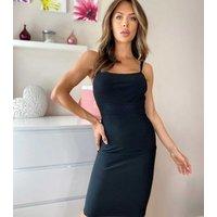 Urban Bliss Black Ribbed Bodycon Dress New Look