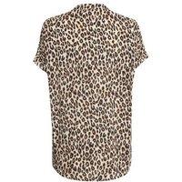 Maternity Cream Leopard Print Short Sleeve Shirt New Look