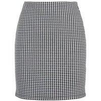 Black Dogtooth Mini Tube Skirt New Look