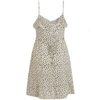 White Ditsy Floral Frill Strappy Mini Dress New Look