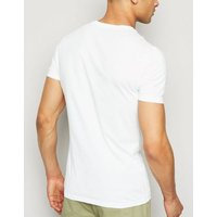 White Muscle Fit Global Tour Slogan T-Shirt New Look