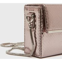 Silver Faux Snake Chain Shoulder Bag New Look Vegan