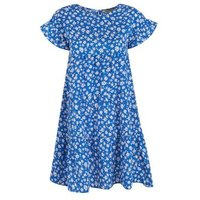 Blue Floral Frill Sleeve Smock Dress New Look