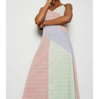 NA-KD Multicoloured Floral Midi Dress New Look