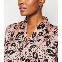 Pink Leopard Print Wrap Bodysuit New Look