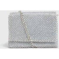 Silver Diamanté Embellished Cross Body Bag New Look Vegan