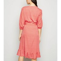 Madam Rage Orange Butterfly Wrap Dress New Look