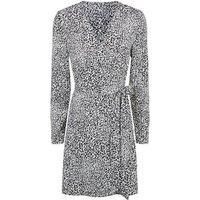 Madam Rage White Leopard Print Mini Wrap Dress New Look