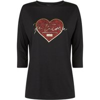 Black Heart Je T'Aime Slogan T-Shirt New Look