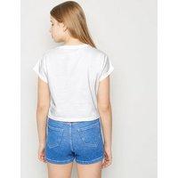 Girls White Plastic Free Slogan T-Shirt New Look