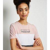 Girls Pink Colour Block Tokyo Slogan Dress New Look