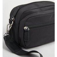 Black Shell Cross Body Bag New Look