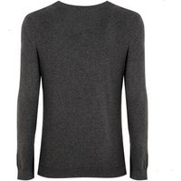 Dark Grey Fine Knit Crew Jumper New Look