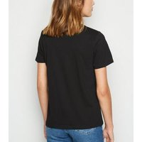 Black Sunflower Dreams Slogan T-Shirt New Look