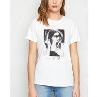 White Photographic Print Slogan T-Shirt New Look