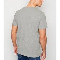 Men's Jack & Jones Grey Originals Slogan T-Shirt New Look