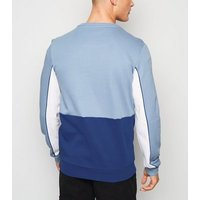 Men's Jack & Jones Bright Blue Colour Block Sweatshirt New Look