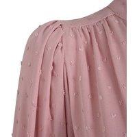 Pale Pink Chiffon Spot Shirt New Look