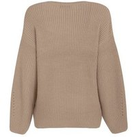 Maternity Camel Pointelle Knit Jumper New Look