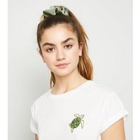 Girls White Turtle Print Boxy T-Shirt New Look