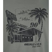 Jack & Jones Mint Green Postcard T-Shirt New Look