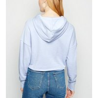 Bright Blue Cropped Hoodie New Look