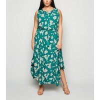Apricot-Curves-Green-Floral-Midi-Dress-New-Look