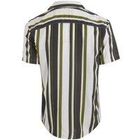 Khaki Stripe Short Sleeve Shirt New Look
