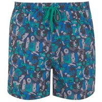 Only & Sons Blue Geometric Swim Shorts New Look