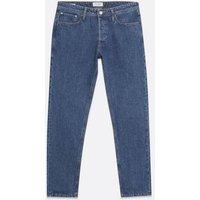 Men's Jack & Jones Blue Mid Wash Straight Leg Jeans New Look