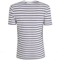 Only & Sons Navy Stripe Button Up T-Shirt New Look