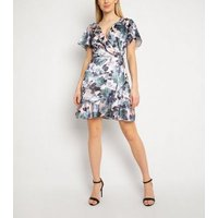 Gini London Pink Floral Frill Dress New Look