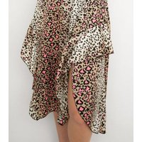 Gini London Brown Leopard Print Midi Skirt New Look