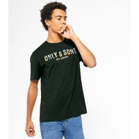 Only & Sons Black Logo T-Shirt New Look