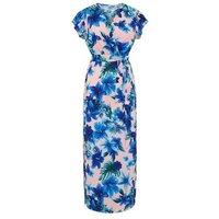 Mela Pink Floral Wrap Maxi Dress New Look