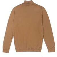 Plus Size Camel Fine Knit Roll Neck Jumper New Look
