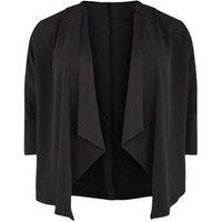 Just Curvy Black Waterfall Jacket New Look